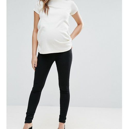 ASOS MATERNITY Pull on Jegging in Washed Black With Over The Bump Waistband - Black