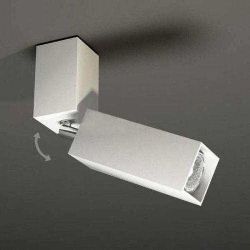 Shilo Spot lampa sufitowa shima 2203/gu10/bi metalowa oprawa do łazienki kwadratowa biały