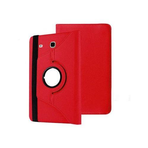 ETUI SKÓRZANE OBROTOWE 360° SAMSUNG GALAXY TAB A 7.0 T280 T285 + SZKŁO HARTOWANE - Czerwony, kolor czerwony