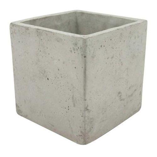 Osłonka doniczki kwadratowa wewnętrzna 11 cm szary beton, 35.028.11