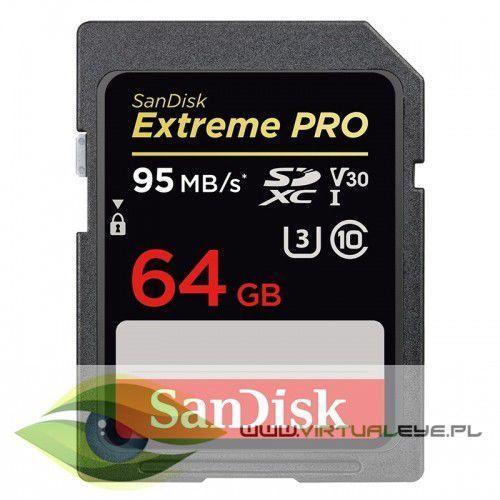 Extreme pro sdxc 64gb 95/90 mb/s v30 uhs-i u3 marki Sandisk
