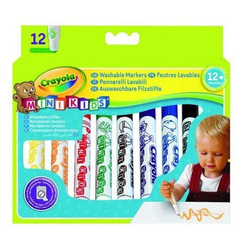 Crayola, Mini Kids, Flamastry zmywalne, 12 szt. (5010065083257)