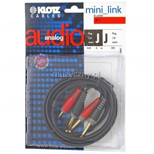 at jj 0300 kabel 2x ts / 2x ts 3m marki Klotz
