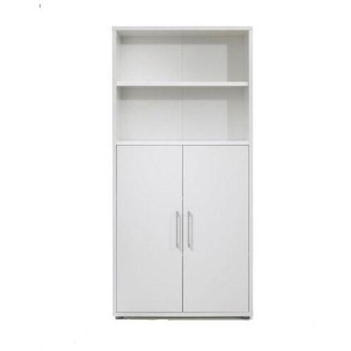 Regał prima 2 drzwiowy biały mat marki Tvilum