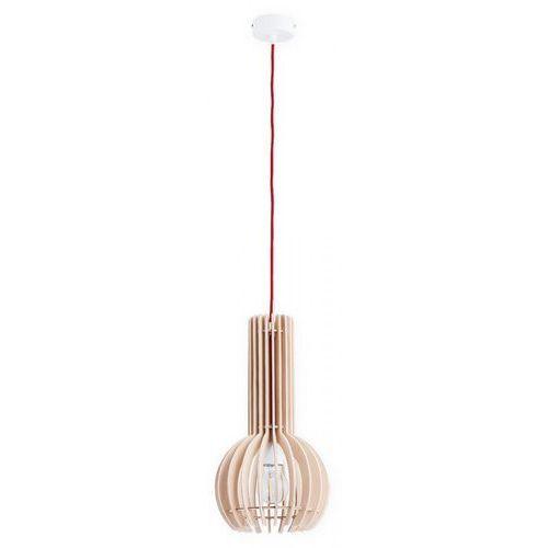 Lemir arana o2600 nat + cze lampa wisząca zwis 1x60w e27 brązowy / czerwony (5902082867272)