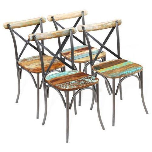 Krzesło do jadalni 4 szt. drewno z odzysku 51x52x84 cm
