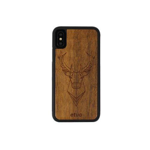 Apple iphone x - etui na telefon wood case - jeleń - imbuia marki Etuo wood case