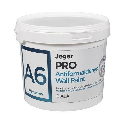 Farba wewnętrzna PRO ANTIFORMALDEHYD WALL PAINT 10 l Biała JEGER (5902166637241)