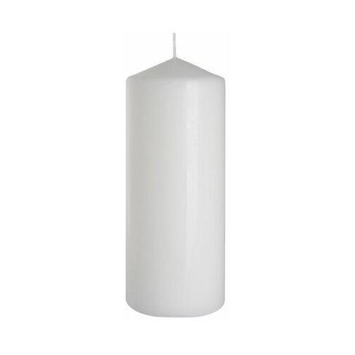 Świeca pieńkowa biała wys. 20 cm, DUŻA ŚWIECA WALEC 8 X 20 cm BIAŁA ŚWIECZKA BISPOL