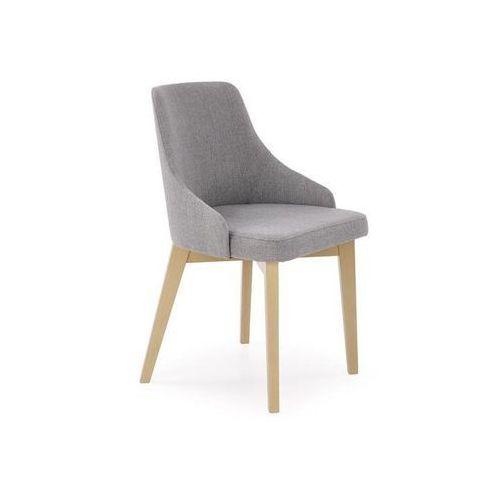 Wygodne krzesło na drewnianych nogach w kolorze dąb sonoma toledo marki Halmar