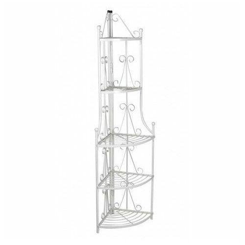 Biały metalowy stojak na rośliny - Ariss, vidaxl_40783