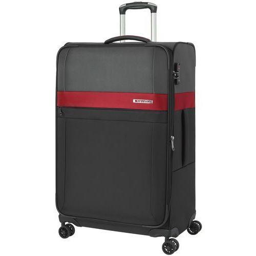 Travelite Stream walizka duża poszerzana 76 cm / czarny - czarny (4027002063433)