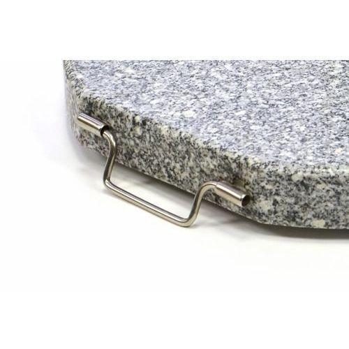 Podstawa z granitu i stali nierdzewnej okrągła z kółeczkami pod parasol 25 kg