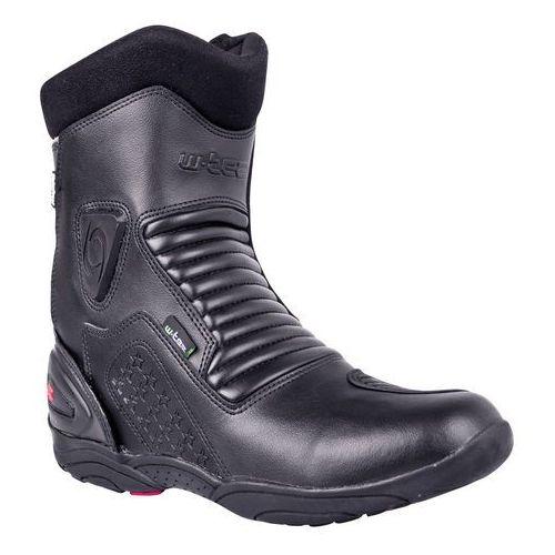 Skórzane buty motocyklowe bangoff nf-6052, czarny, 41 marki W-tec