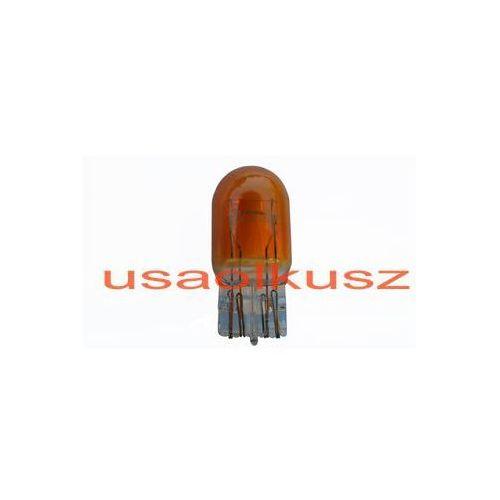 Żarówka pomarańczowa całoszklana dwuwłóknowa W21/5W