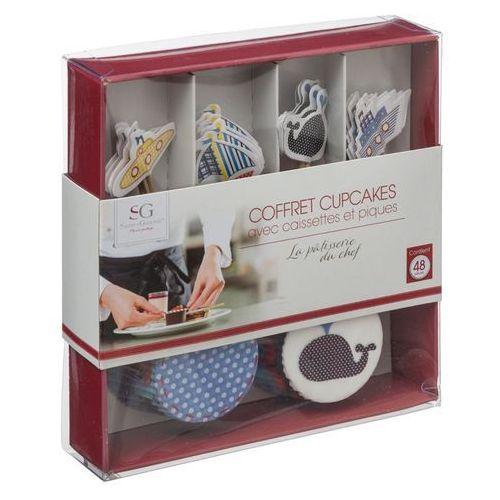 Zestaw do dekorowania muffinek, mini-babeczki, 48 elementów - morze marki Atmosphera créateur d'intérieur