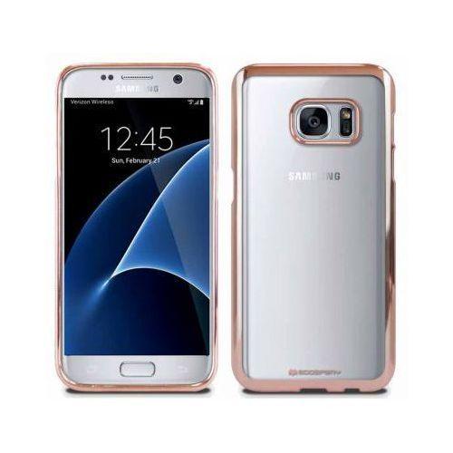 Futerał Back Case Jelly Mercury Ring 2 Samsung S7 edge g935 Różowo-Złoty (5901737378507)