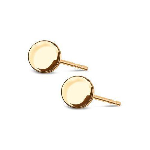Flow - złote kolczyki marki Biżuteria yes