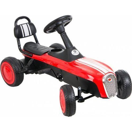 Gokart na pedały KIDZ MOTION RETRO jeździk dla dzieci 3-8 lat Czerwony + DARMOWY TRANSPORT! (5906395302956)
