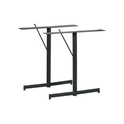 Woood Zestaw dwóch podstaw do stołu Panel metalowe czarne 375004-Z