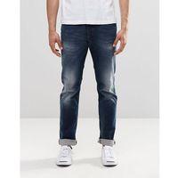 Diesel Buster Straight Jeans 853R Dark Blasted - Blue, proste