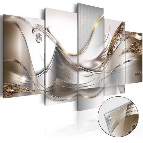 Obraz na szkle akrylowym - Złoty lot [Glass]