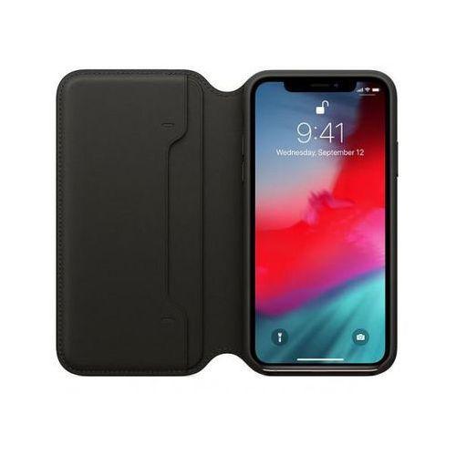 leather folio do iphone xs, black >> bogata oferta - szybka wysyłka - promocje - darmowy transport od 99 zł! marki Apple