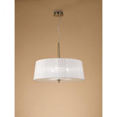 lampa wisząca LOEWE 3L antyczny mosiądz - jeden klosz, MANTRA 4739