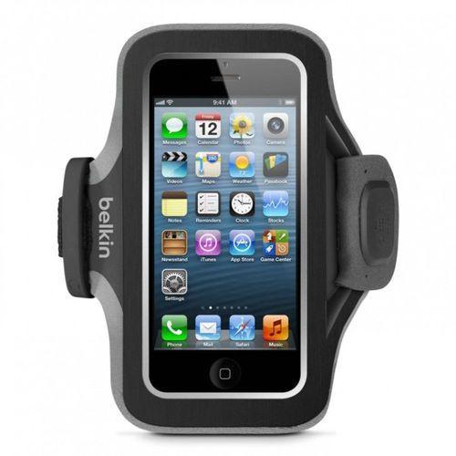 Belkin Slim-Fit F8W299vfC00 Czarna | Opaska sportowa na ramię dla Apple iPhone 5 / 5C / 5S / SE