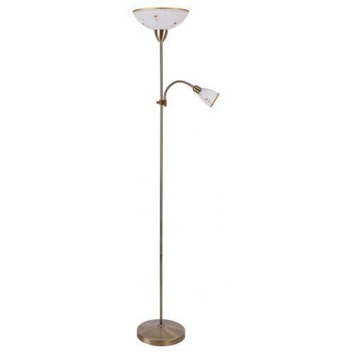 Rabalux Lampa stojąca podłogowa art flower 1x60w e27 g45+ 1x40we14 biały/brąz 4009 (5998250340098)
