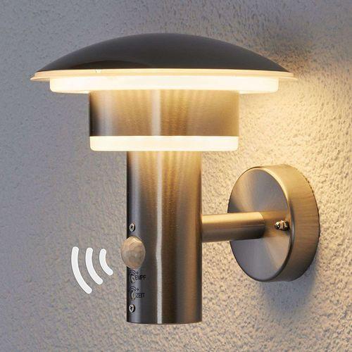 Okrągła lampa zewnętrzna ze stali nierdzewnej z czujnikiem ruchu, w tym LED - Lillie