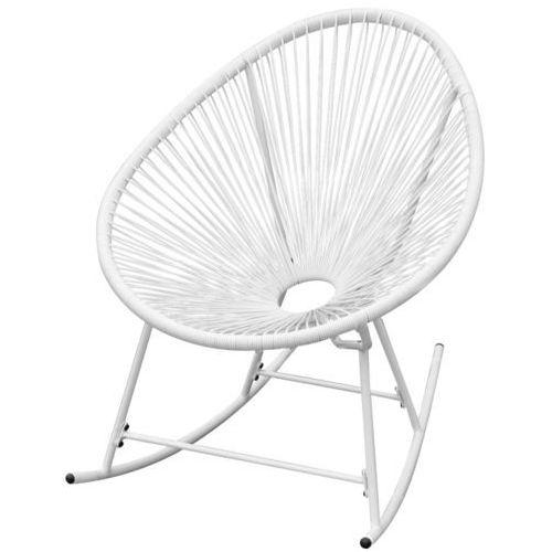 Vidaxl  fotel bujany ogrodowy, polirattan, biały (8718475972877)
