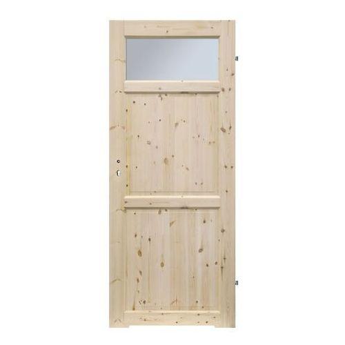 Drzwi z podcięciem Radex Lugano 80 prawe sosna surowa, LUGANO.FOG.4S.80P/