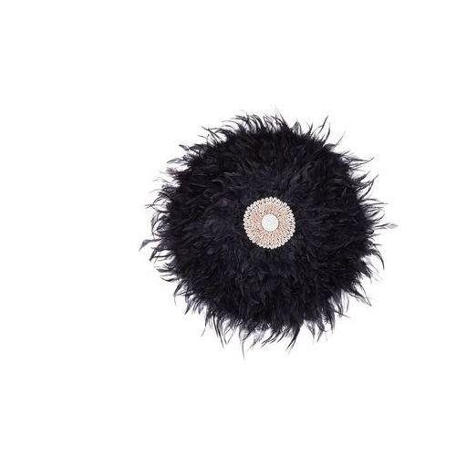 Beliani Dekoracja ścienna z muszelkami czarna Ø60 cm juju