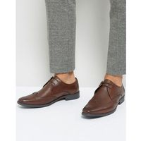 Silver street smart brogues in milled brown letaher - brown