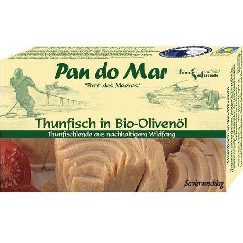 Tuńczyk w bio oliwie z oliwek 120g marki Pan do mar