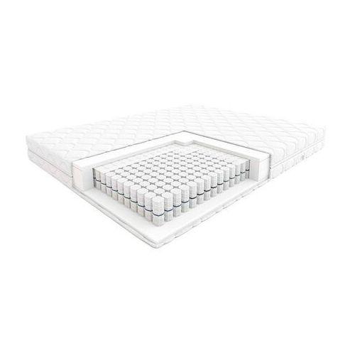 Hilding step - materac kieszeniowy, sprężynowy, rozmiar - 100x200, twardość - h3, pokrowiec - silver wyprzedaż, wysyłka gratis (5901595014272)