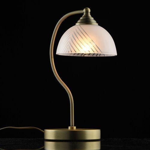 Mw-light Lampa stołowa mosiężna z białym kloszem aphrodite classic (317035101) (4250369183029)