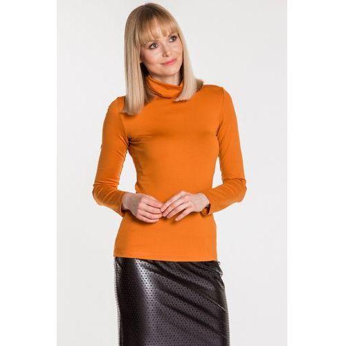 Pomarańczowa bluzka z golfem - Ryba, kolor pomarańczowy