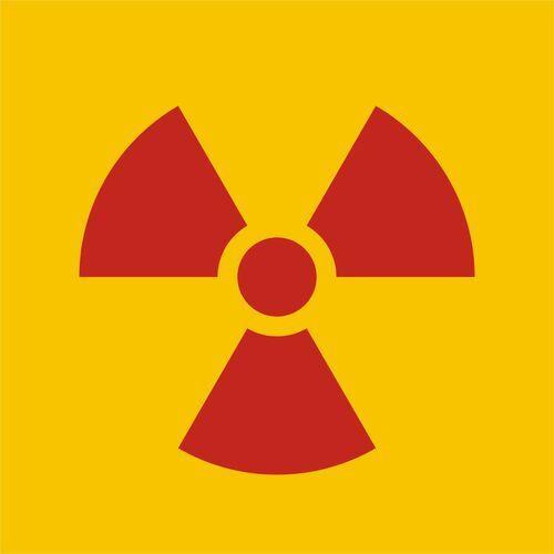 Znak ostrzegawczy do oznakowania opakowania bezpośredniego otwartego źródła promieniowania marki Top design