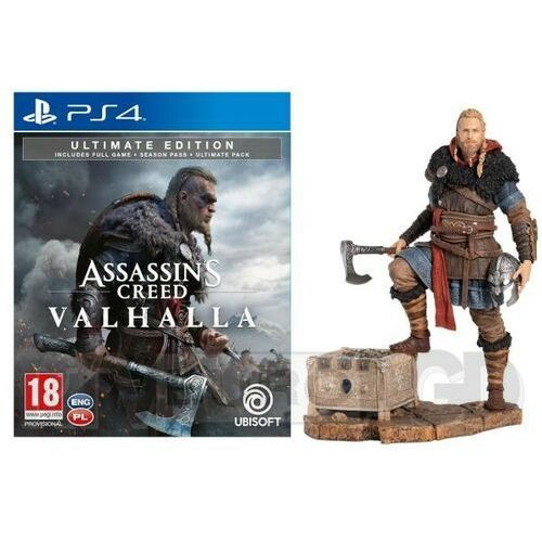 Assassin's creed valhalla edycja ultimate + figurka eivor ps4 marki Ubisoft