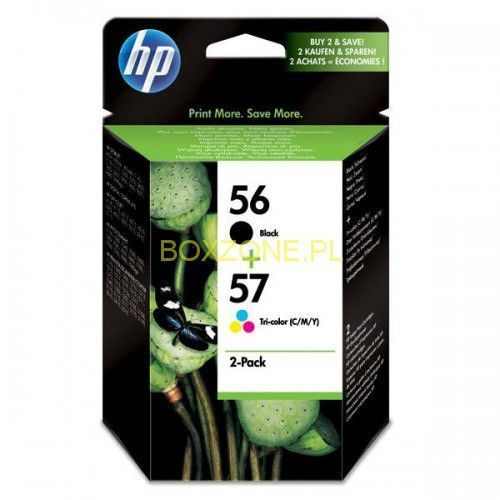 Hewlett-packard Hp oryginalny ink sa342ae, no.56 + no.57, black/color, 520/500s, 2szt, hp 2-pack, c6656 + c6657 (0882780316492)