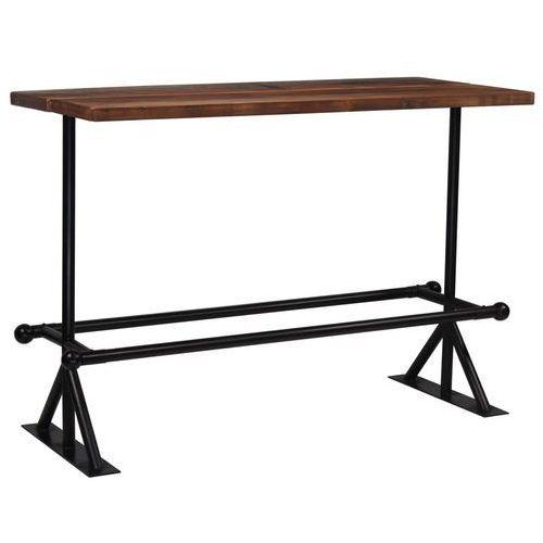 Stół barowy, lite drewno z odzysku, ciemny brąz, 150x70x107 cm