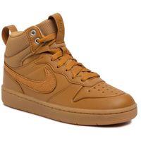 Buty - court borough mid 2 boot (gs) bq5440 700 wheat/wheat gum med brown marki Nike