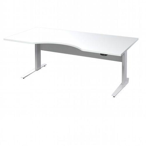 Prima biurko z el. regulowanymi nogami 180 cm - biały \ biały marki Tvilum
