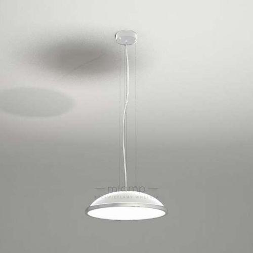 Wisząca LAMPA minimalistyczna WANTO 5521-B/E27/BI Shilo okrągła OPRAWA zwis biały, kolor Biały