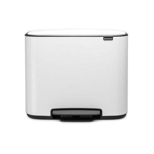 Brabantia - kosz bo pedal bin 2 komory 11+23l biały
