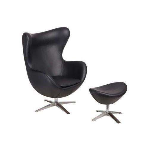 Fotel jajo soft z podn. sk. eko 527 czarny marki D2.design