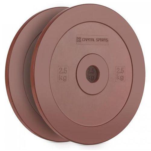 CAPITAL SPORTS Methoder obciążenie talerz gumowany para 2,5 kg kolor czerwony