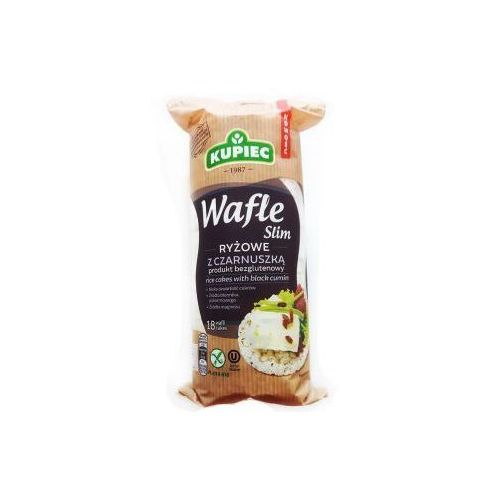Kupiec Wafle ryżowe z czarnuszką slim 90 g